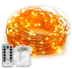 10M 100Heads LED Copper Wire Waterproof Christmas Lights battery operated fairy string hanging lights warm white