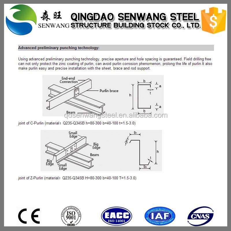 C Z Type Channel Steel Purlin For Steel Structure - Buy Z Purlin/z Type  Channel/z Steel For Building Materials,Z Purlin/z Type Channel,Z Purlin/z
