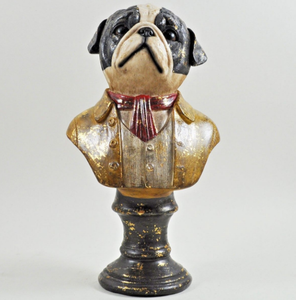 customized Dapper Dressed up Animal Figurine Bust Quirky Retro Ornament Curio resin Steampunk
