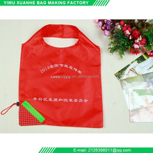 Customized silk screen printing eco reusable foldable shopping bag