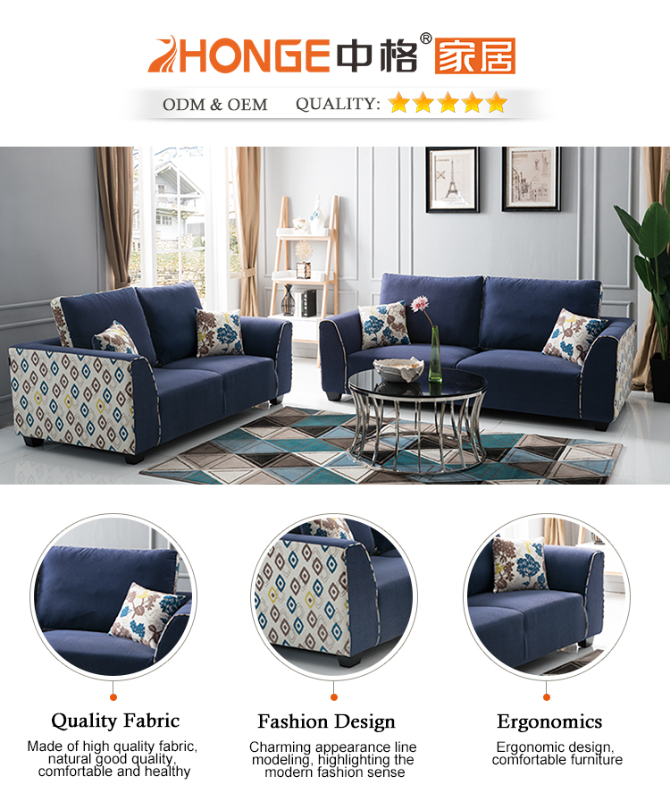 Drawing Room Furniture Armrest Sectional Modern Fabric Navy Blue Sofa Sets For Living Room View Sofa Sets For Living Room Zhonge Product Details From Foshan Zhongge Furniture Industrial Co Ltd On Alibaba Com