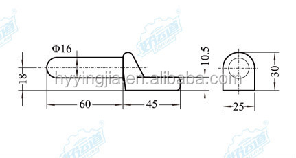 01163 Forging door hinge pin for truck