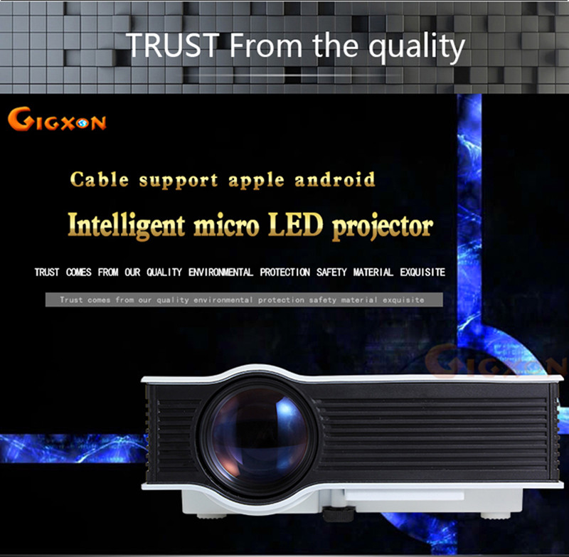 Gigxon - G40+ 2016 Newest 800*480 1080p Support Portable Projector Entertainmet Projector LCD Beamer With VGA Cable