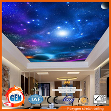 space design night sky and blue sky ceiling for hall and bedroom