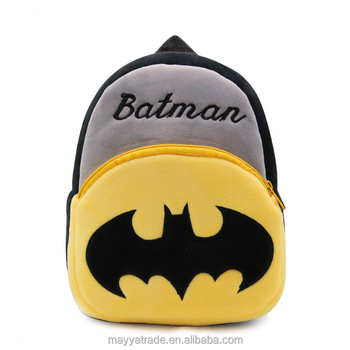 Kid s Cool Marvel Batman School Backpack Bookbag Plush Bag for Boys Toddler Kids  Children