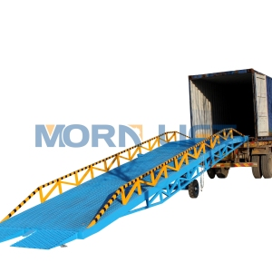Hydraulic manual or electric mobile loading container ramp