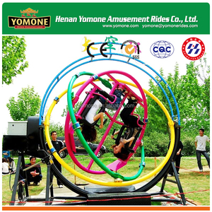 Modern amusement rides human gyroscope for sale