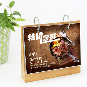 Wood Restaurant Table Stand Menu Card Holder Wholesale
