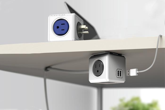 Allocacoc PowerCube Retractable Power Strip With USB Charging Port  Multipurpose Creative PowerCube Usb Socket Uk Eu