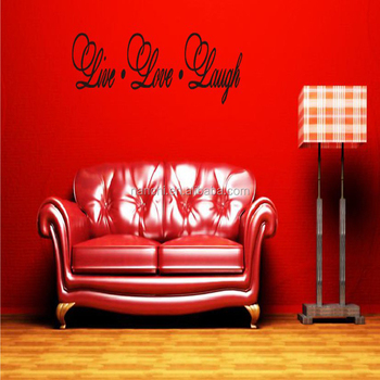 live love laugh wall decor vinyl lettering quotes stickers bedroom