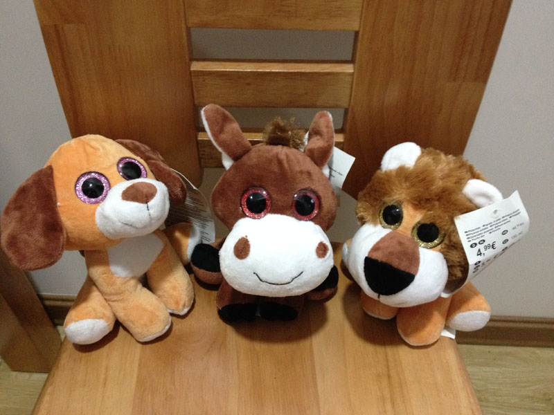 Plush Big Eyes Animal Sriese - Zoo Animal Series