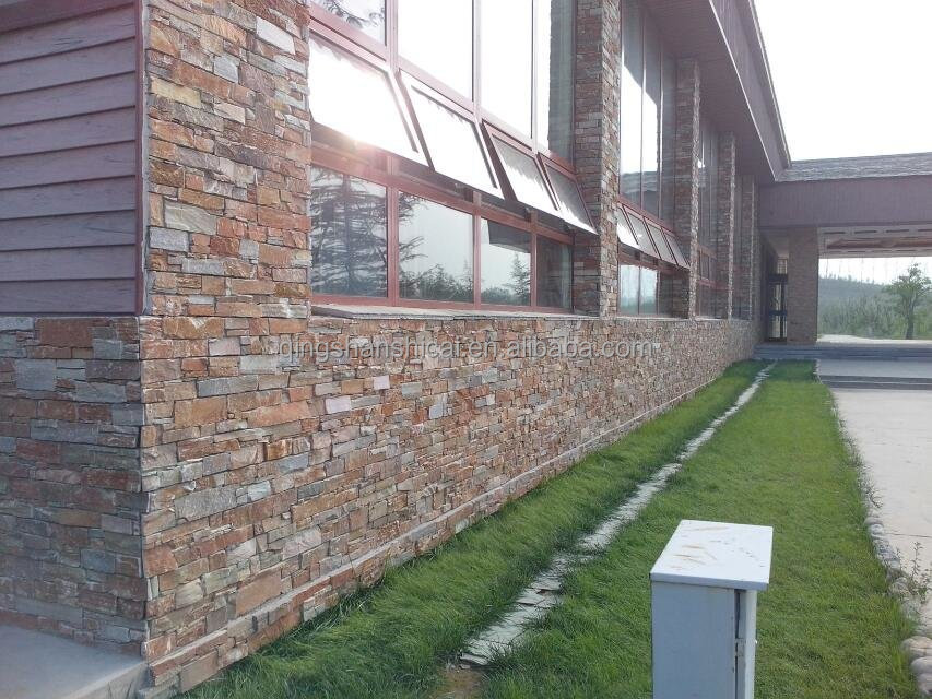Exterior Fibre Cement Board Natural Travertine Panels For Facade