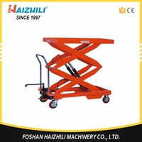 2017 Factory direct 1T Manual Scissor lifting table Cart export to USA