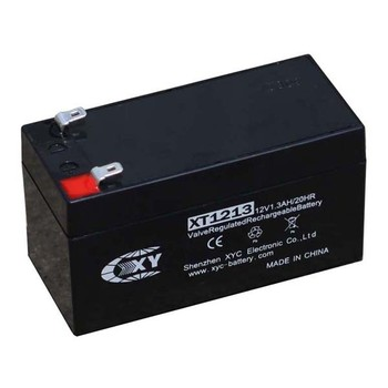 12 Volt/ 1.3 Amp Hour Sealed Lead Acid Battery With 0.187 Fast-on ...