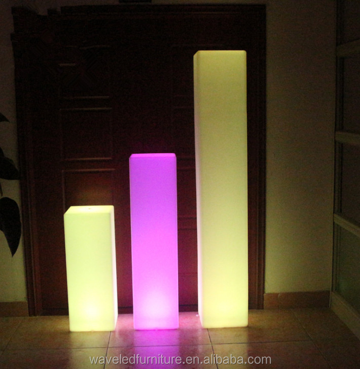 Colour Changing outdoor garden decoration glowing flashing lamp led cylinder light