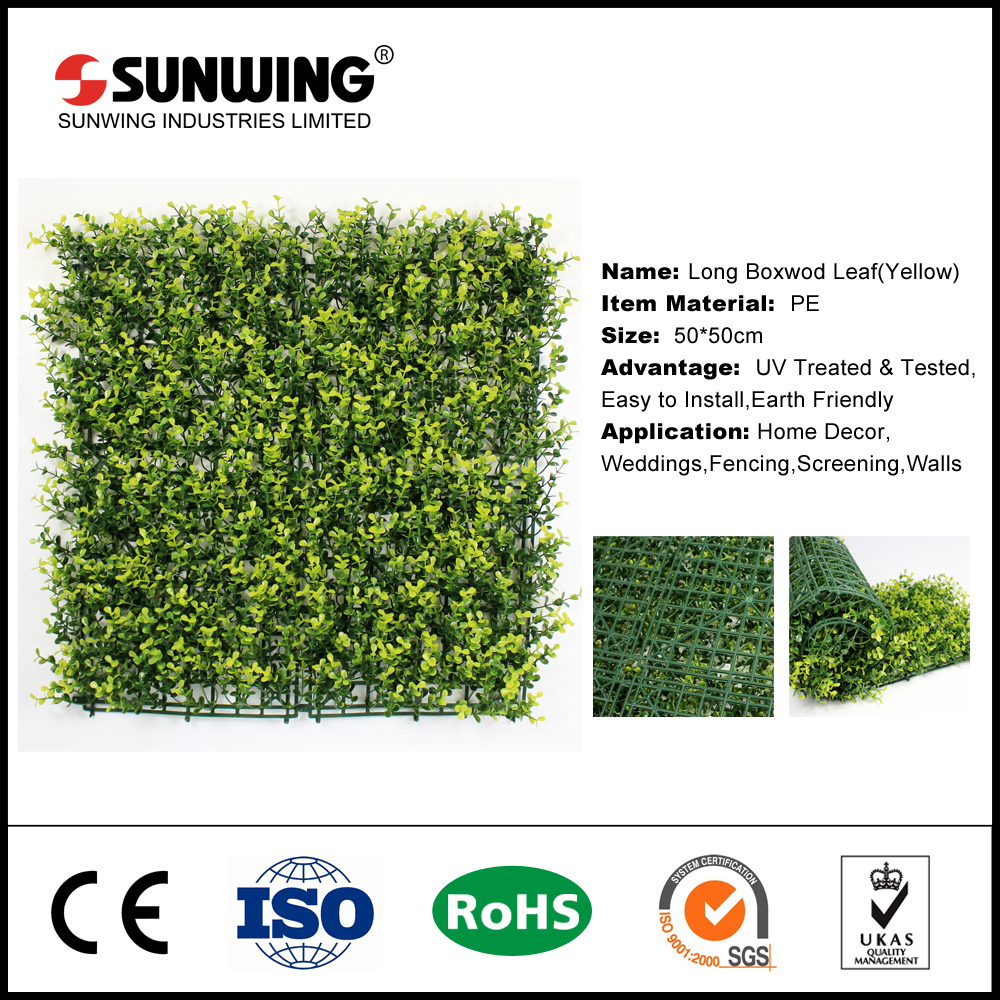 where to buy easily assembled yellow artificial box hedge panels