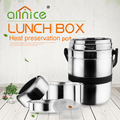 New product stainless steel insulated lunch box food storage container metal lunch pot with handle