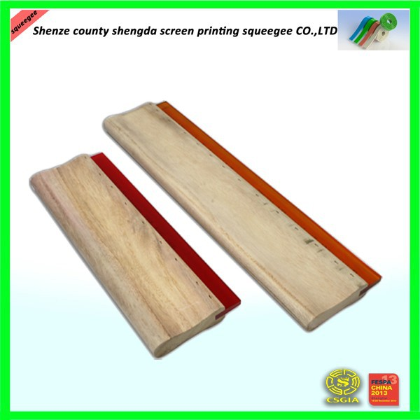 hot sale silk screen printing handle squeegee,wooden handle squeegee