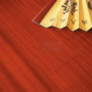UV Lacquer Finish Wood Laminate Flooring 15mm Red Multilayer Wood Engineered