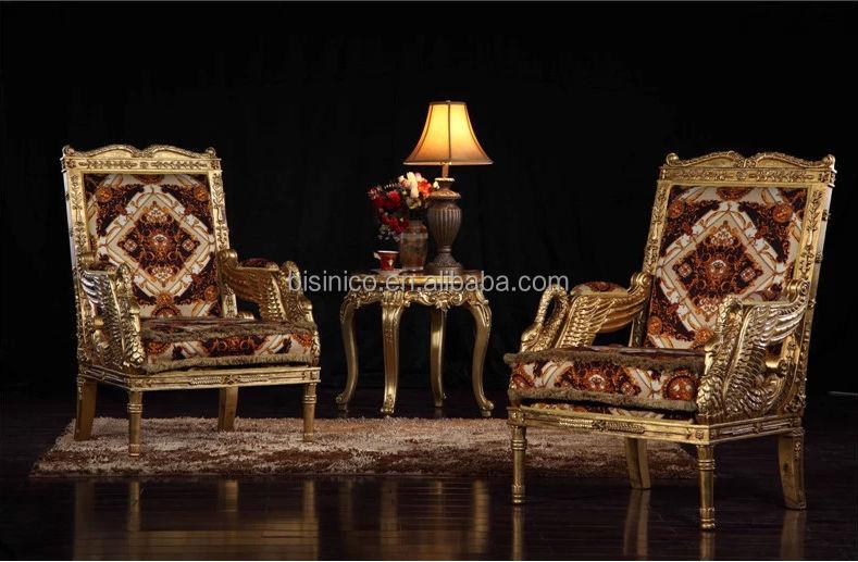 Italian Luxury Royal Handcrafted Wooden Sofa Chair,Single Sofa ...
