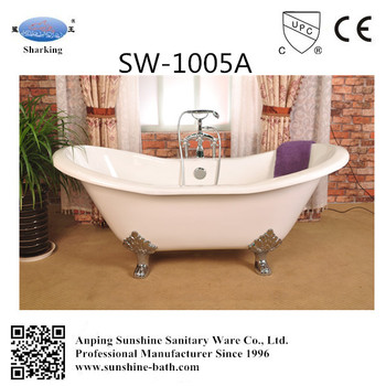 cast iron double slipper clawfoot tub. Sunshine Cast Iron Double Slipper Clawfoot Tub with Lion Paw Feet With