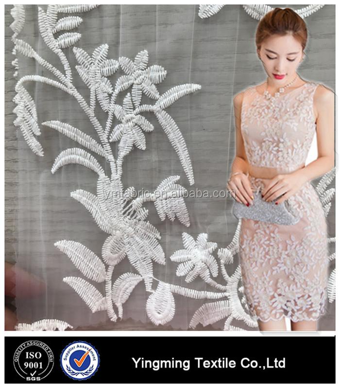 80985d9fa 100% Nylon Embroidered Silk Organza Fabric For Dress - Buy Nylon ...