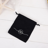 Custom Black Velvet Jewelry Bag