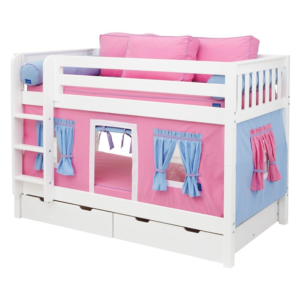 Hot Shot Girl Twin over Twin Tent Bunk Bed