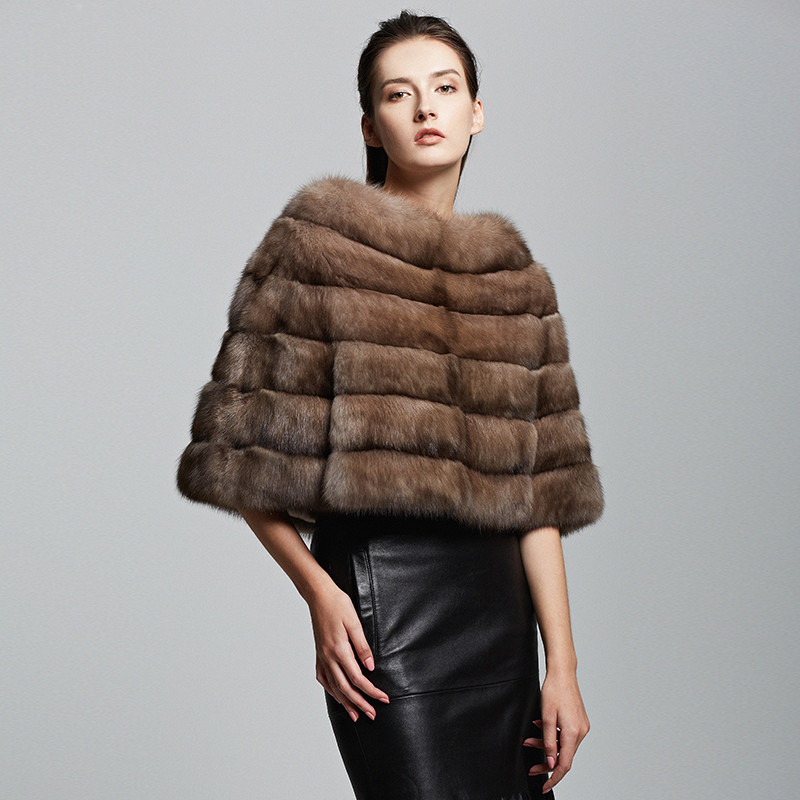 Womenswear Kopenhagen Olive Dark Green Long Mink Fur Vest