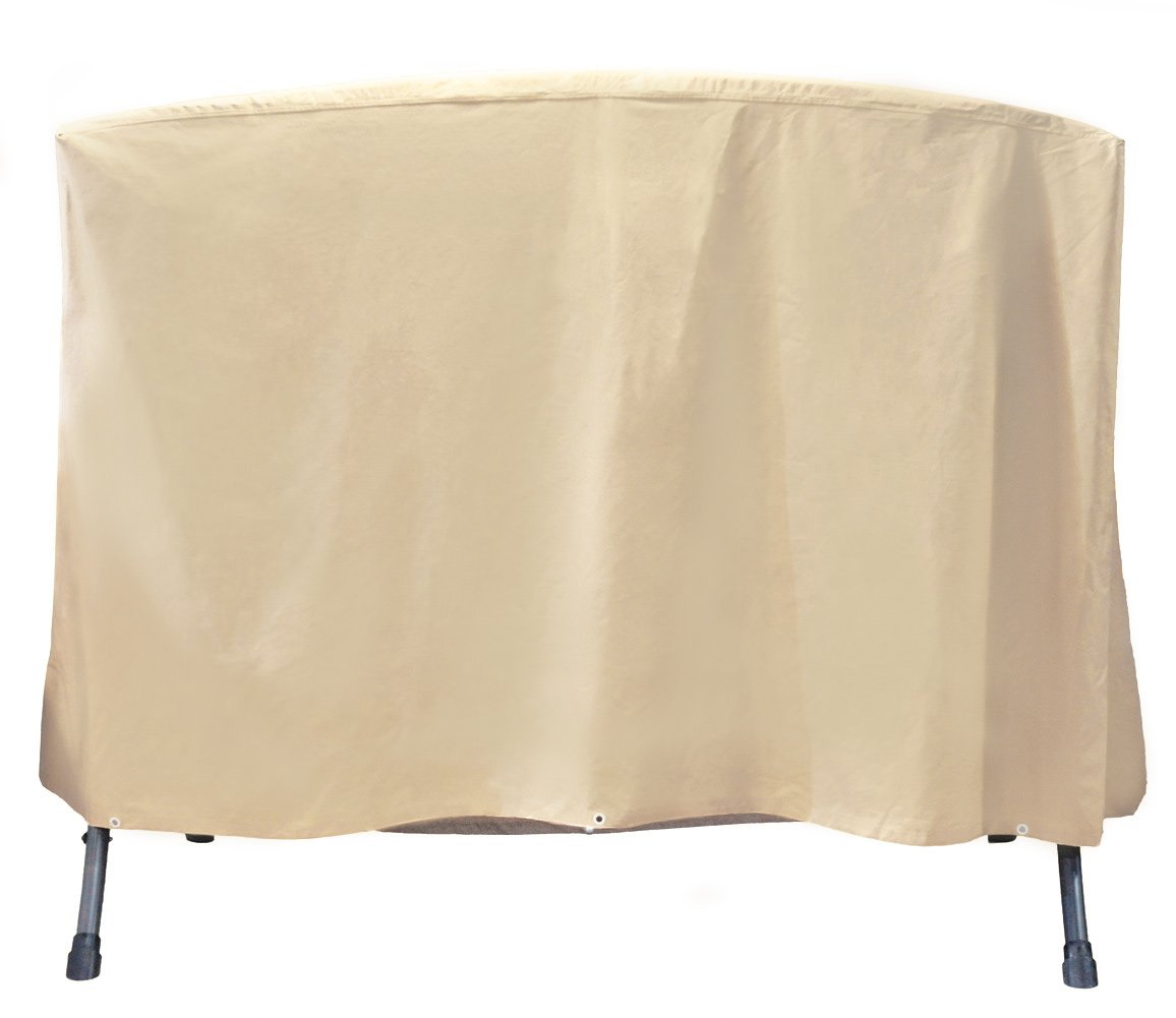 Grand patio Outdoor Swing Cover, Weather-Resistant 3 Triple Seater Swing Cover, Waterproof and Durable Porch Swing Covers, Beige