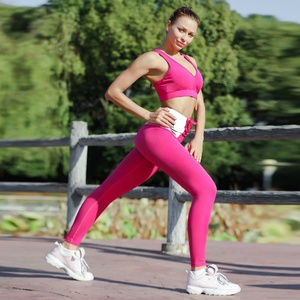 OEM Best Selling New High Quality Customized Wholesale Fitness Clothing, Compression Yoga Pants Leggings Set For Women