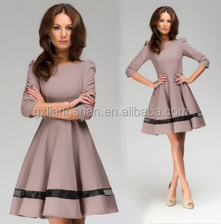 5af17a3ee1e OEM Wholesale Business Women Ladies Work Wear Autumn casual Office Wear  Dress Designs Winter Cocktail Party