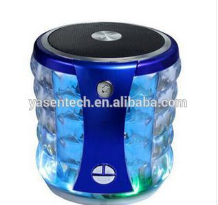 Led light bluetooth speaker T-2096A Subwoofers with mic for Cellphones PC Laptop