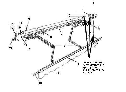 Outdoor Patio Manual Retractable Awning Arm Wall Mount ...
