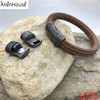 Wholesale New Arrival Old black style 11x7mm Flat Hot Magnetic Bracelet Clasps for thick leather cord
