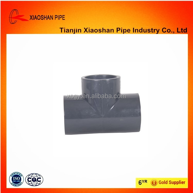 astm sch 40 pvc plastic pipe fittings tee 1-1/2''