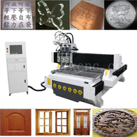 2017 best !!! vacuum table 1325 automatic tool change cnc for wooden door