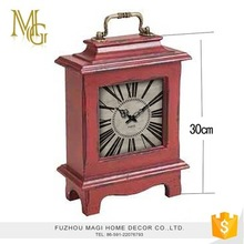 European wooden classic vintage table clocks table