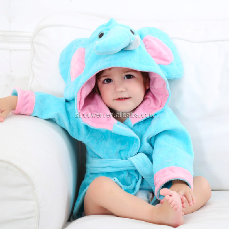 Animal elephant hooded towel for kids baby animal face hooded towels