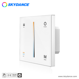 Skydance wireless rf wall mounted glass touch panel dimmer for led lamps