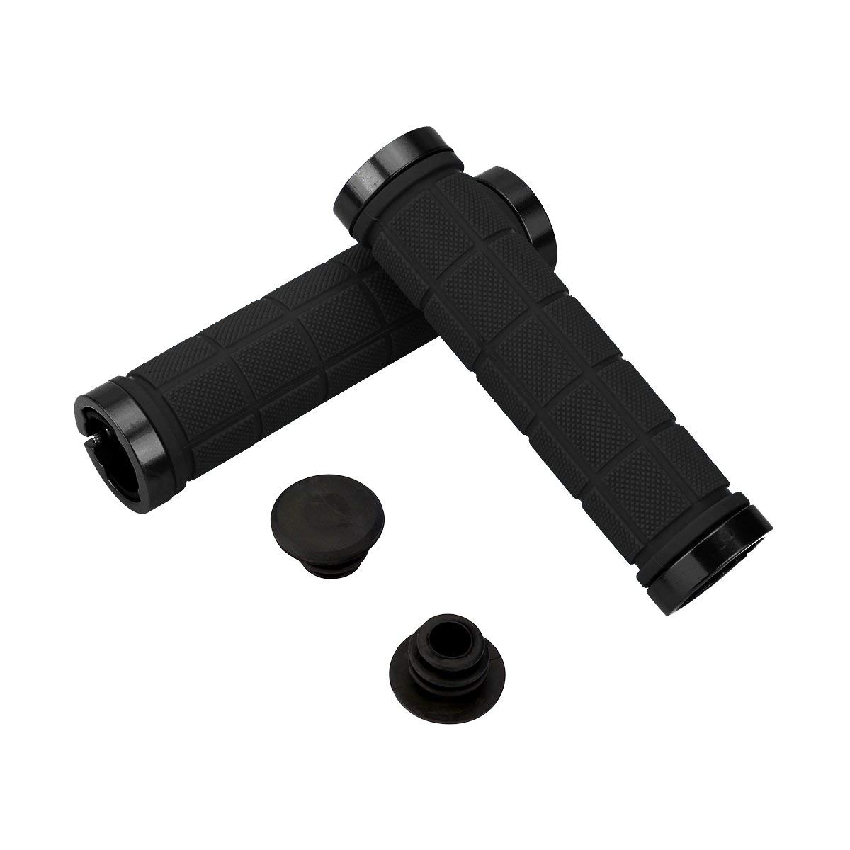 BMX Double Lock-on Bicycle Grip Handle Bar End Holding Locking Grips for MTB Folding Bike Mountain Downhill Bike Handlebar Grips