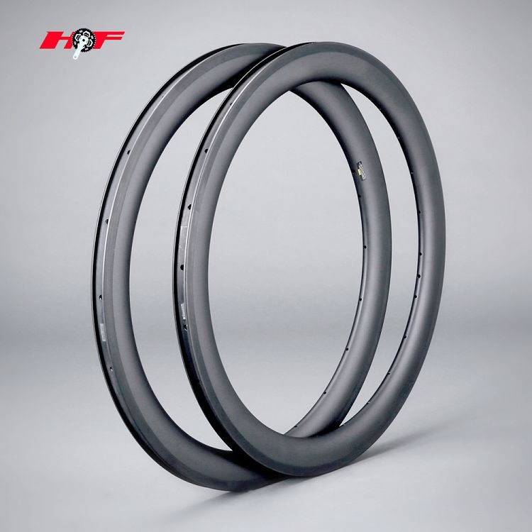 High quality Custom OEM Bike parts 56mm clincher   Carbon 700C Road Bike rims