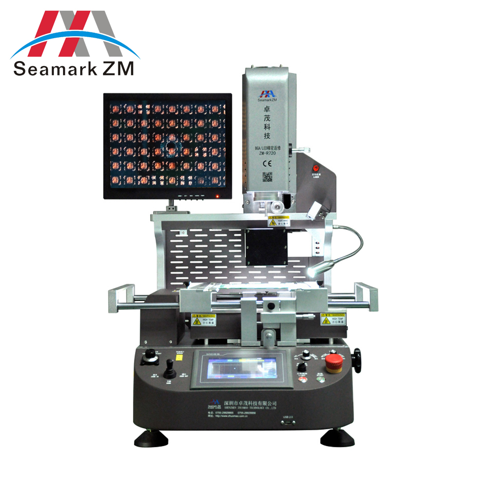 ZHUOMAO ZMR-720 3 heating zones+hot air/smd bga rework station for computer motherboard soldering