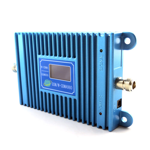 Sunhans Dual Frequency GSM 900mhz WCDMA 2100MHz 3g Repeater signal amplifier Booster extend up 3000square with Display