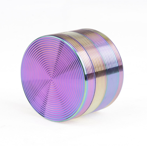 Wholesaler 4 Layer Zinc Alloy Diameter 63MM Rainbow Tobacco Herb Grinder