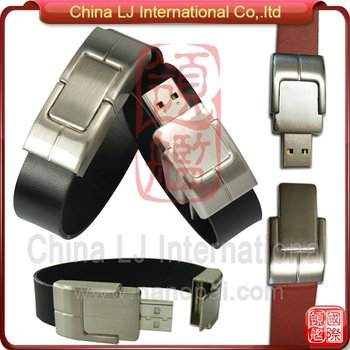Business Promotional Gifts Luxury Leather Bracelet Usb Flash Drive ...