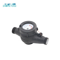 China supplier plastic body multi jet water flow meter price