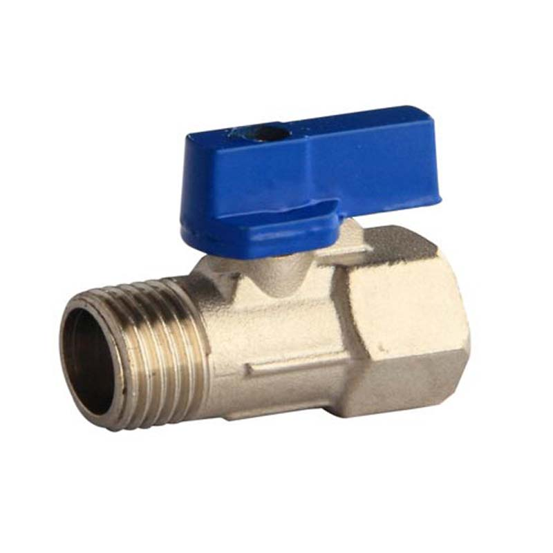 SOLID CHROME BRASS AIR FITTINGS ANY SIZE MINI NPT BALL VALVE MALE /& FEMALE