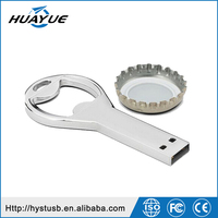 Hot sale funny product beer bottle opener usb flash drive mini pendrive 1gb to 64gb memory sticks wholesale
