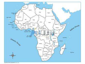 Montessori-labeled Africa Control Map - Buy Montessori Material ...